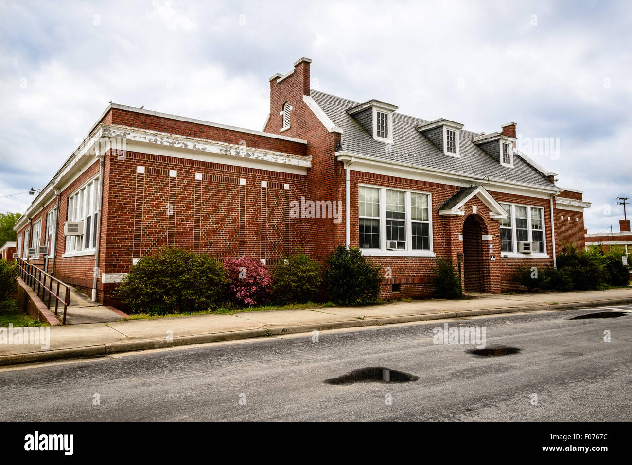 New Kent School, New Kent Highway, New Kent, Virginia - Stock Image