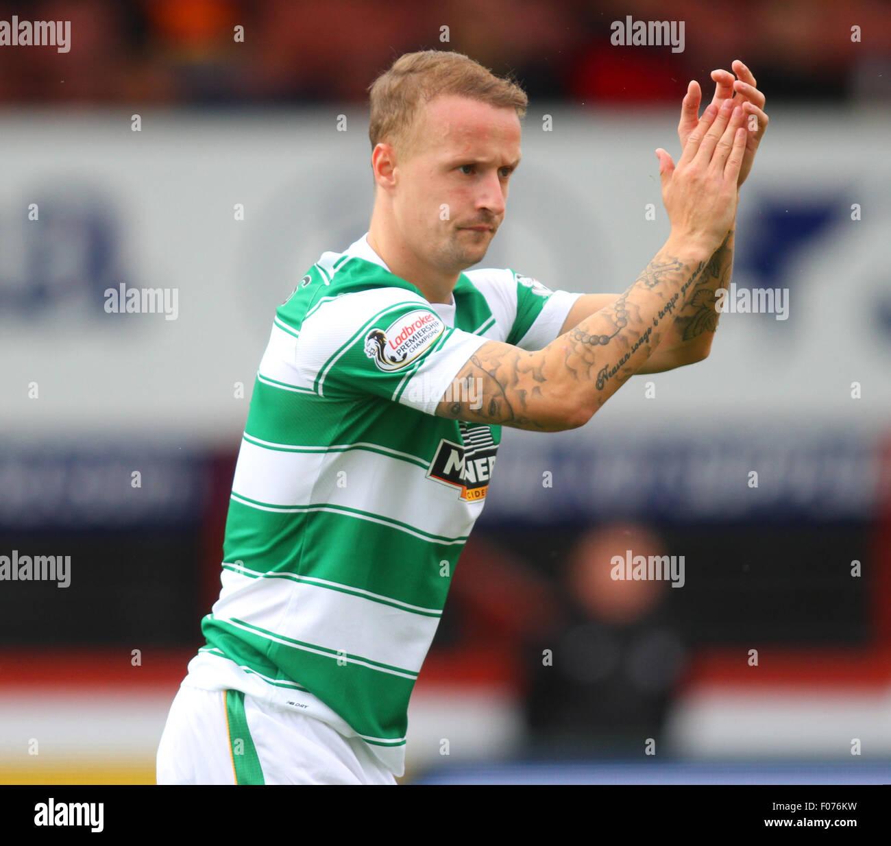 Glasgow, Scotland. 09th Aug, 2015. Ladbrokes Scottish Premiership. Partick Thistle versus Celtic. Leigh Griffiths - Stock Image