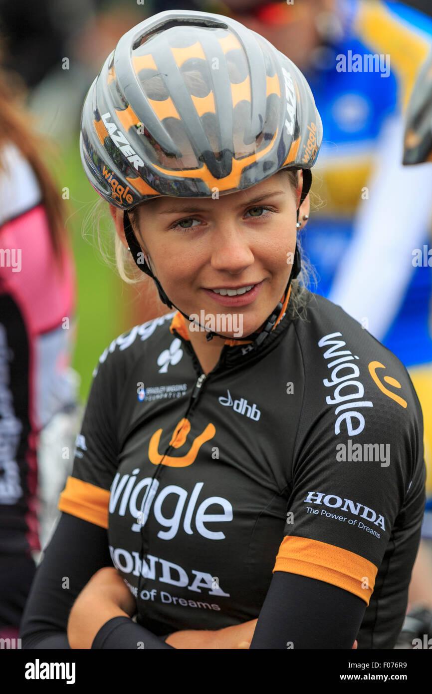 bf3da3b16 Wiggle Honda s Anna Christian waiting for the start of the British National  Championships 2015