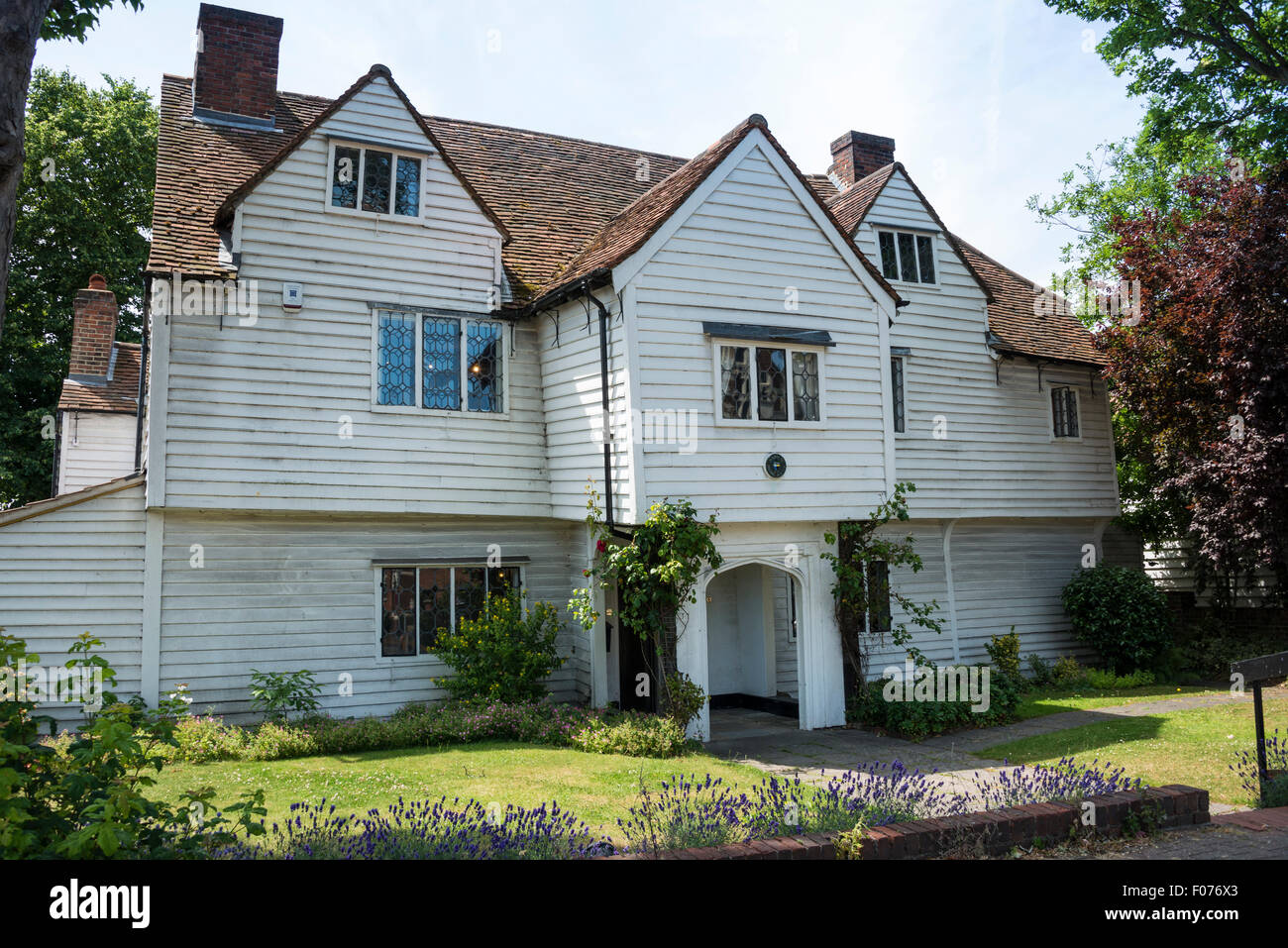 15th Century Whitehall building, The Broadway, Cheam Village, London Borough of Sutton, Greater London, England, - Stock Image