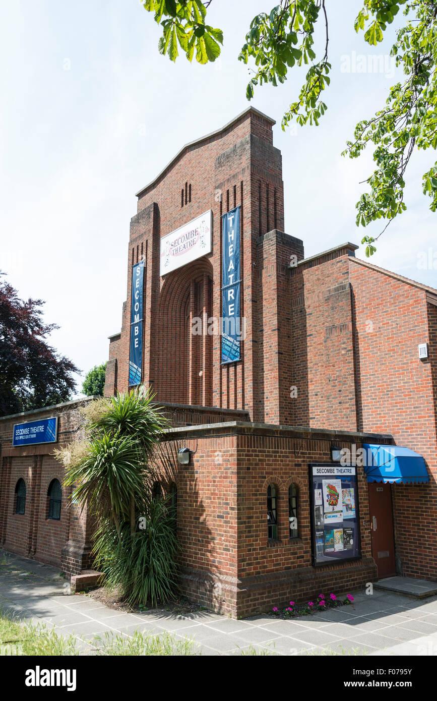 Secombe Theatre, Cheam Road, Sutton, London Borough of Sutton, Greater London, England, United Kingdom - Stock Image