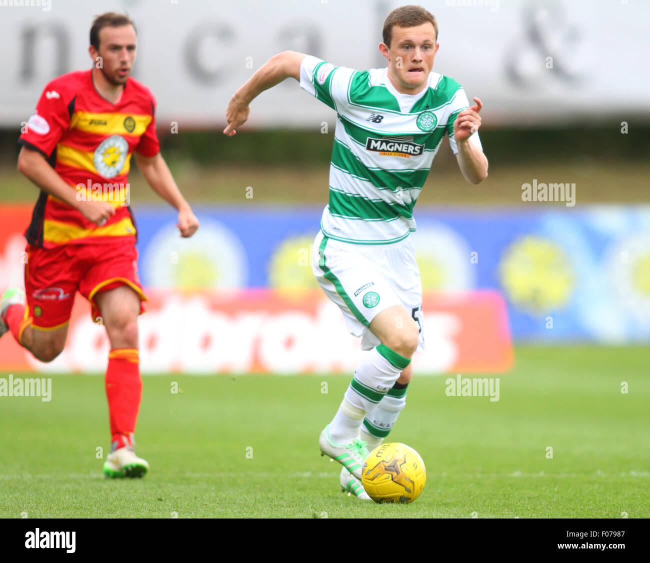 Glasgow, Scotland. 09th Aug, 2015. Ladbrokes Scottish Premiership. Partick Thistle versus Celtic. Liam Henderson - Stock Image