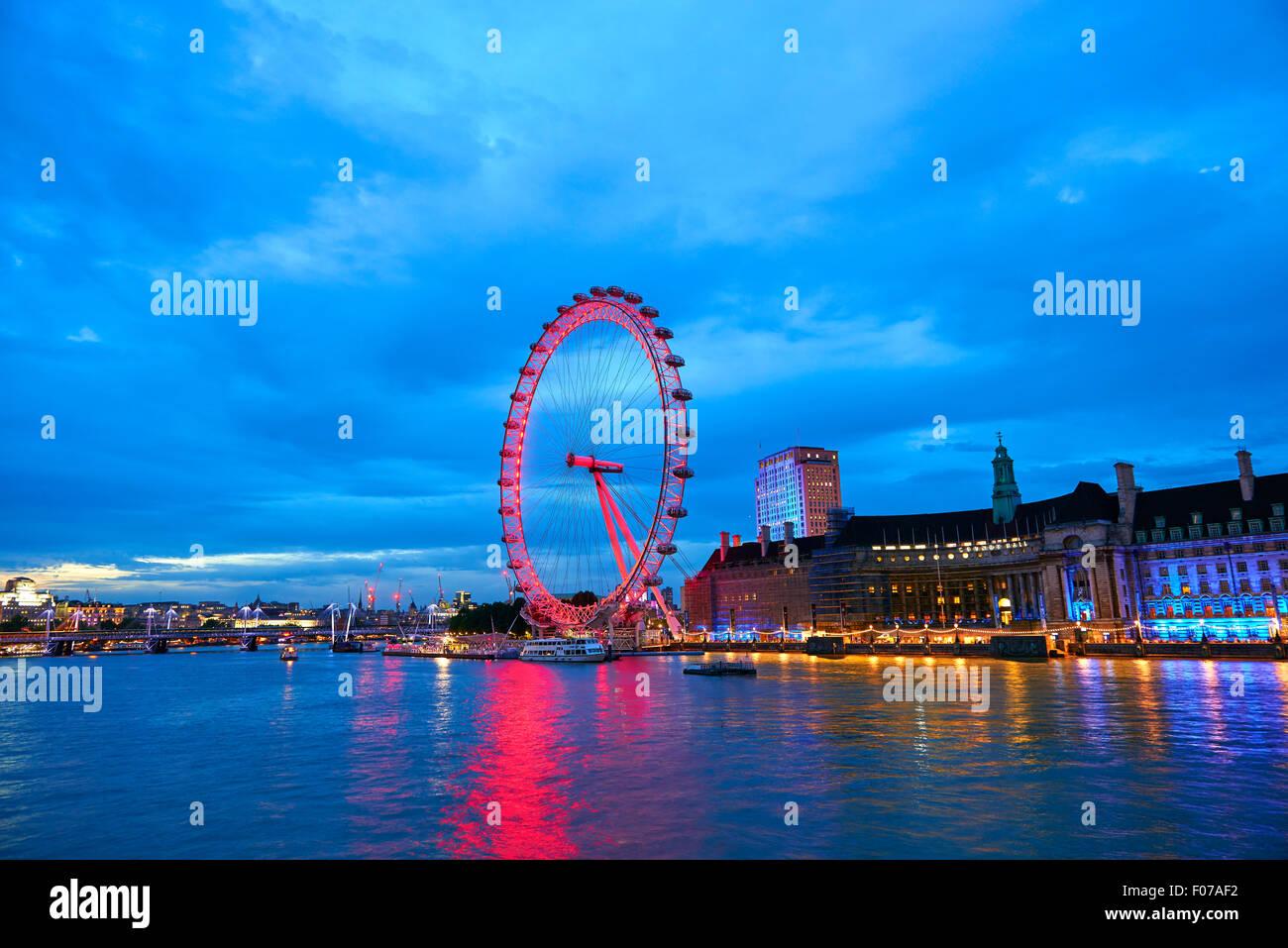 London eye, London, United Kingdom, Europe - Stock Image