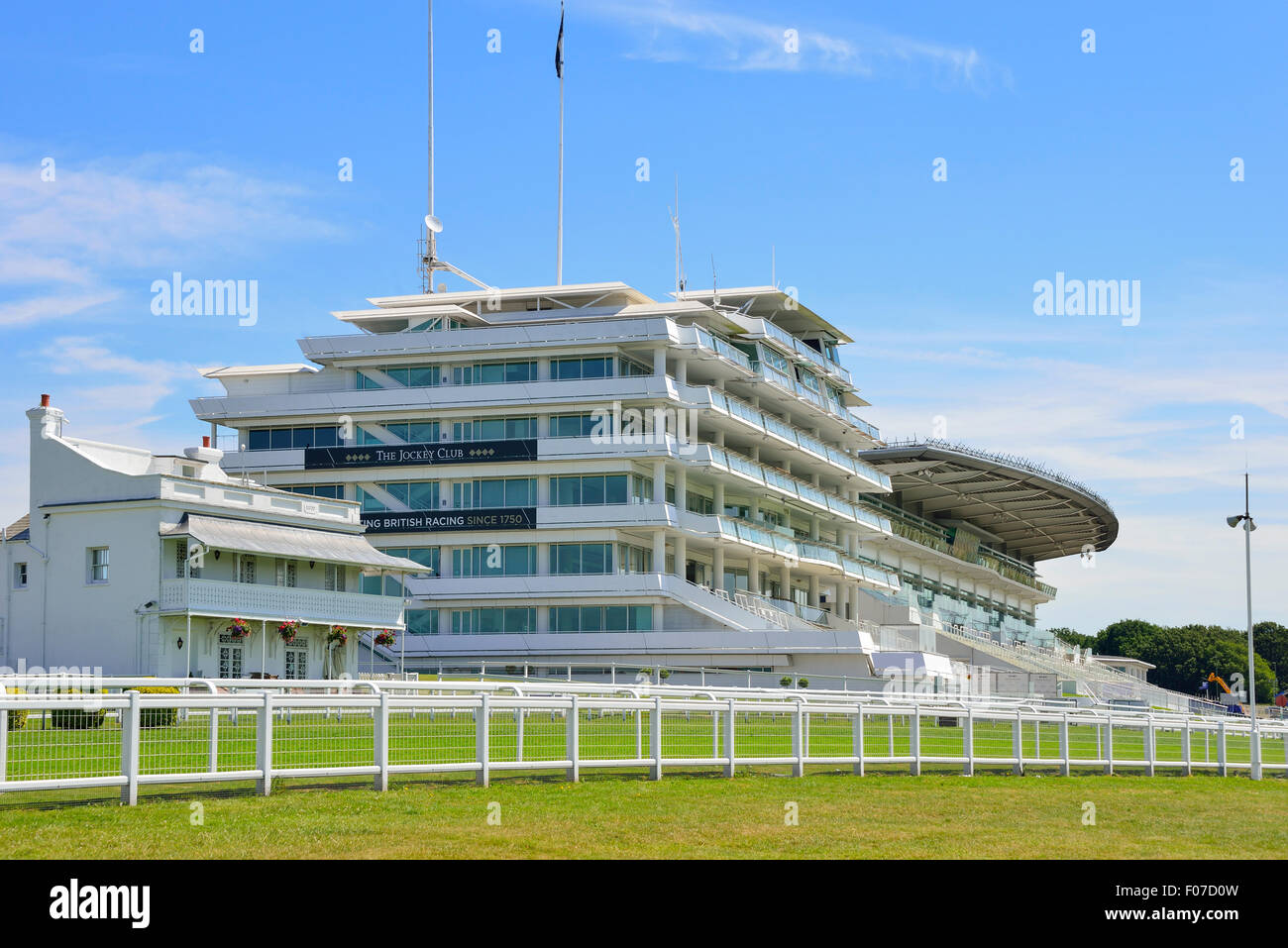 Epsom Downs Racecourse (Home of The Derby), Epsom Downs, Epsom, Surrey, England, United Kingdom - Stock Image