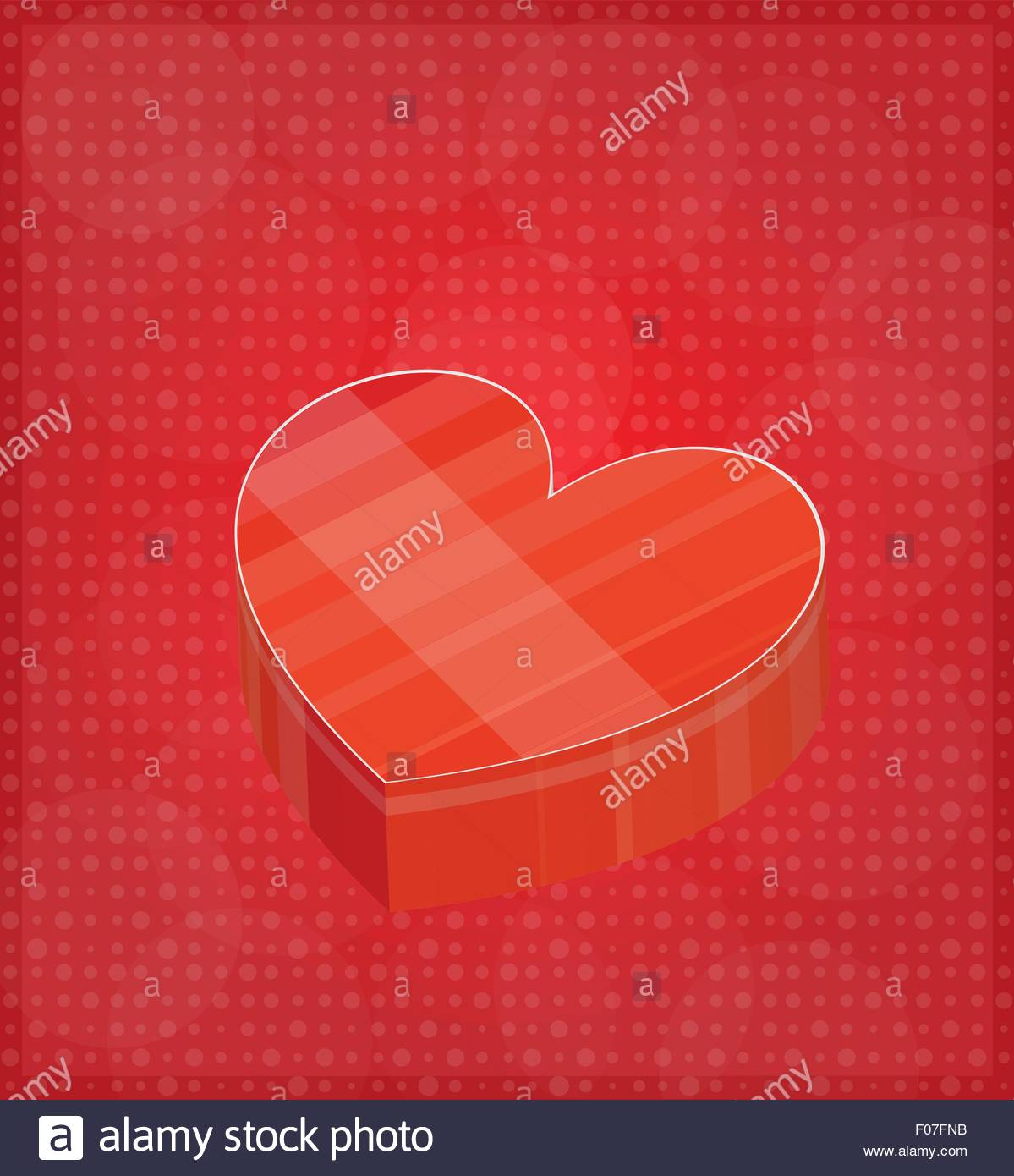 happy valentine s card with heart shaped box red background eps 10