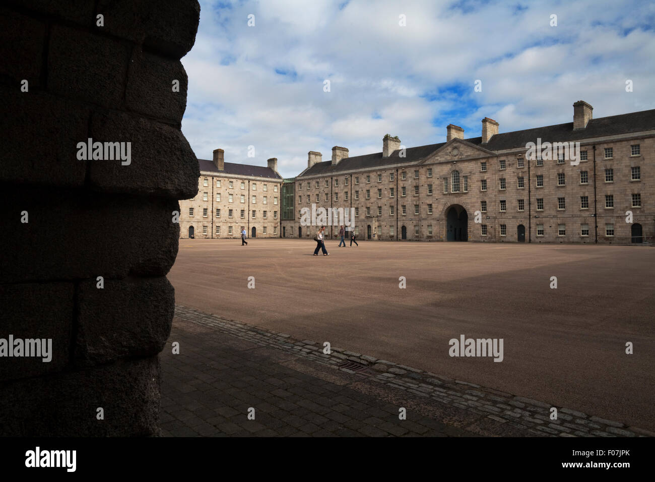 The National Museum of Ireland,  the Main Square, The Collins Barracks,  a former British (and later) Irish military - Stock Image