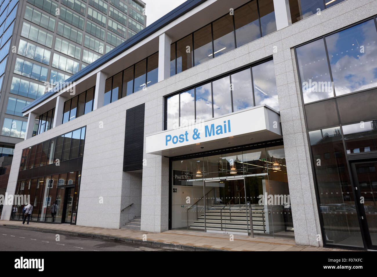 Birmingham post and mail newspaper offices in the former printing works UK - Stock Image