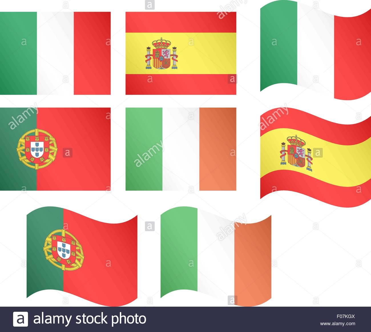 European Flags 2 EPS10 - Stock Vector