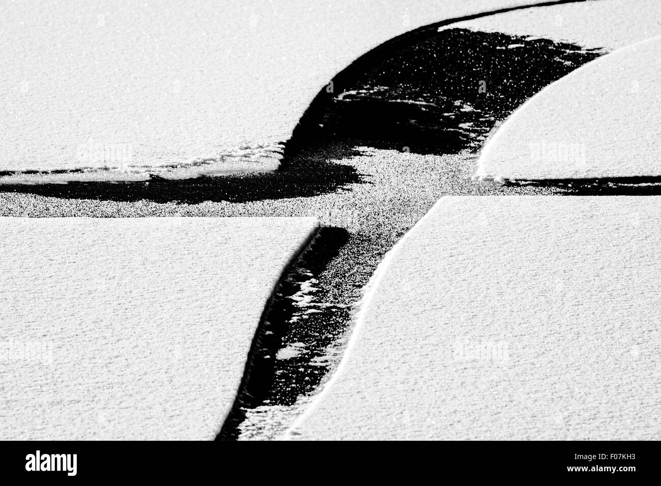 The Mark X on snow - Stock Image