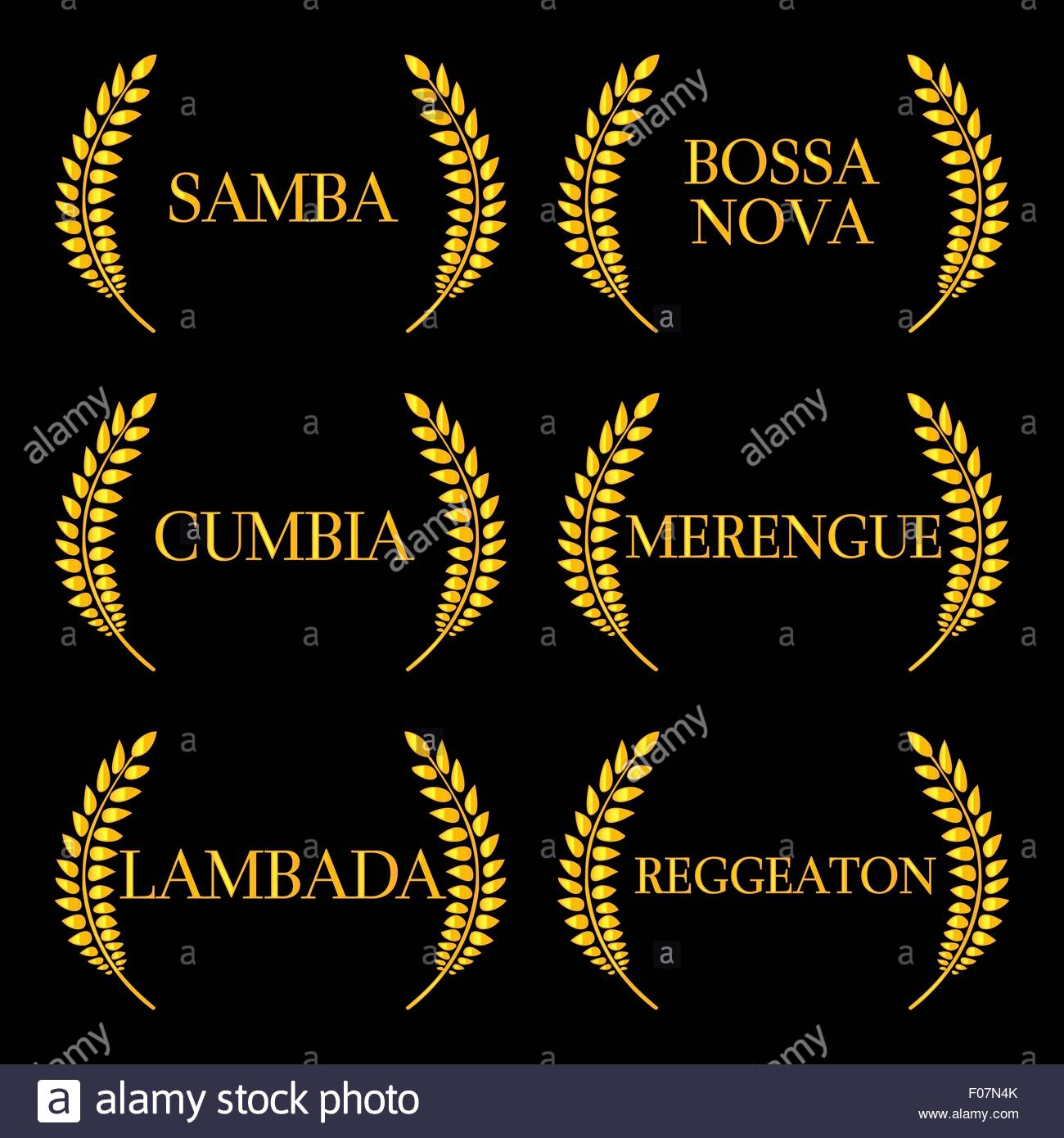 Latin Music Genres 6 - Stock Image