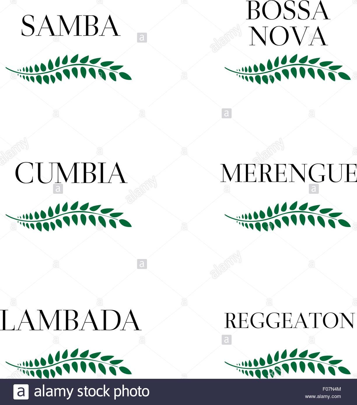 Latin Music Genres 7 - Stock Image