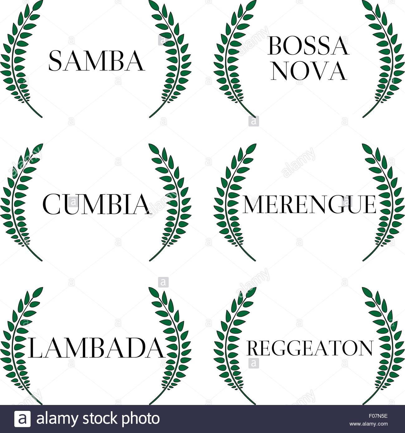 Latin Music Genres 5 - Stock Image