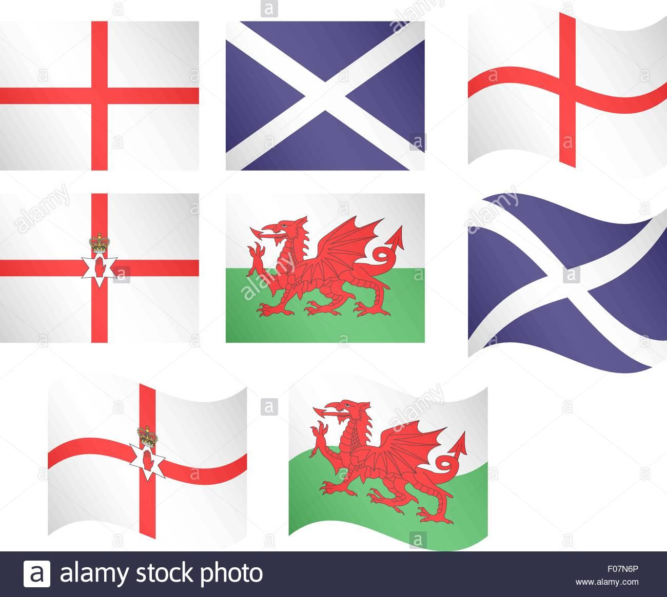 European Flags 10 EPS 10 - Stock Vector