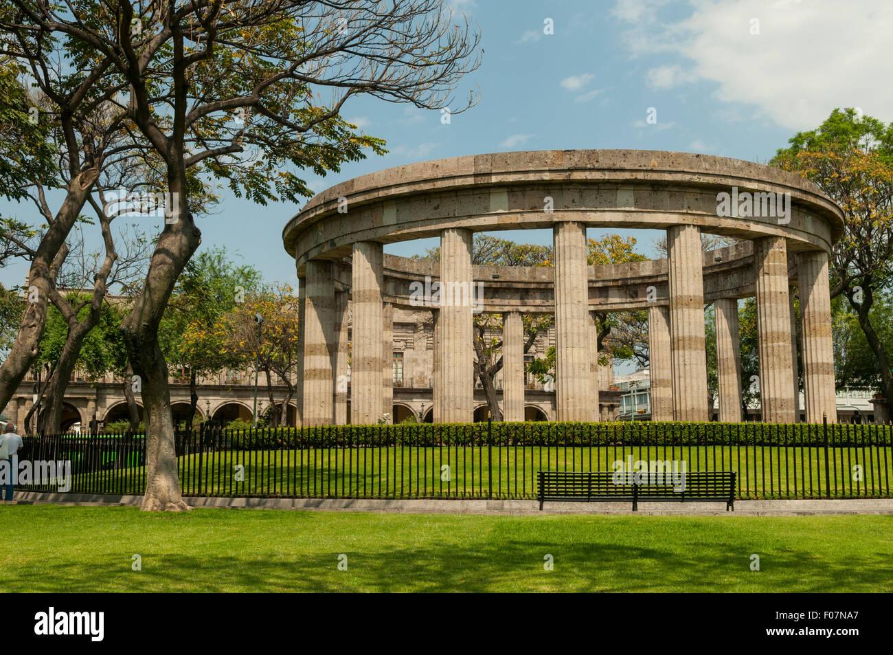 Rotonda de los Hombres Illustres, Guadalajara, Mexico Stock Photo