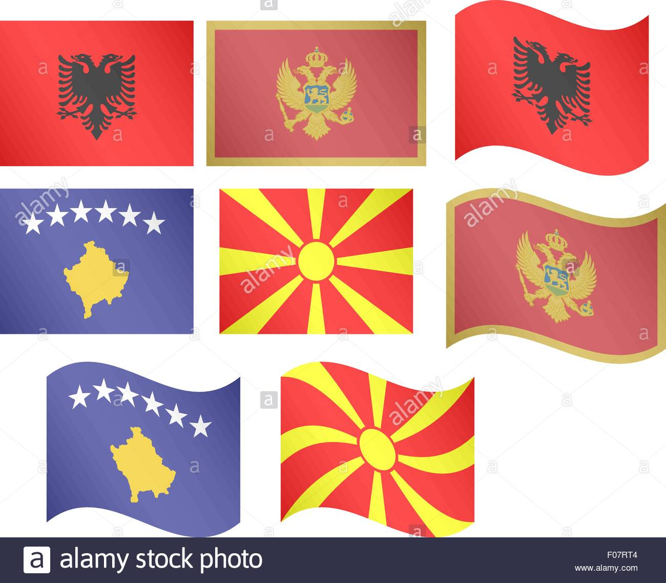 European Flags 12 EPS 10 - Stock Vector