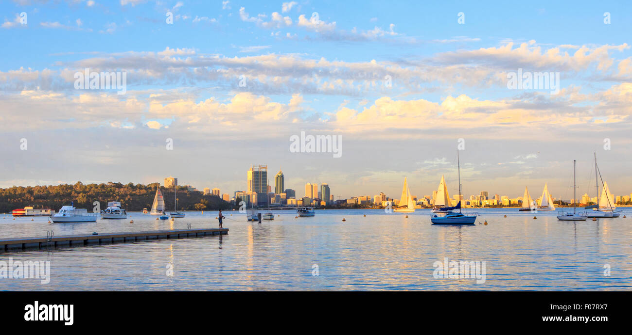 Matilda Bay Reserve on the Swan River Stock Photo