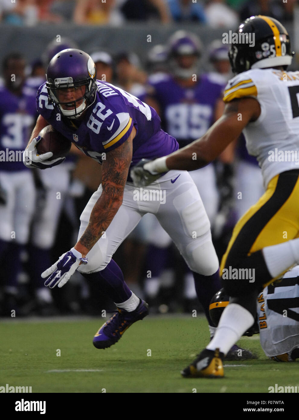 Canton Ohio 9th Aug 2015 Kyle Rudolph 82 During The Nfl