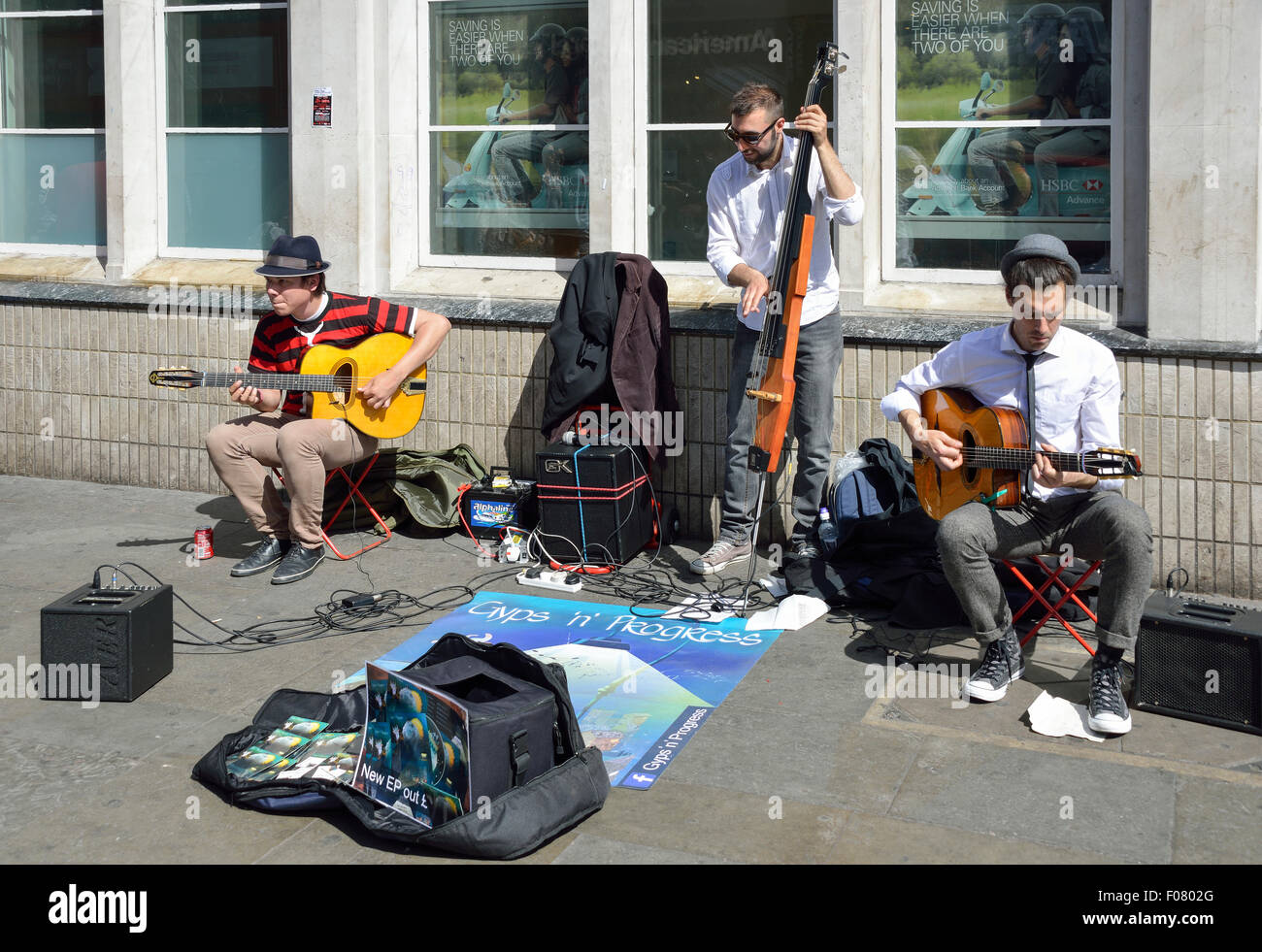 Street buskers performing in James Street, Covent Garden, West End, City of Westminster, London, England, United - Stock Image