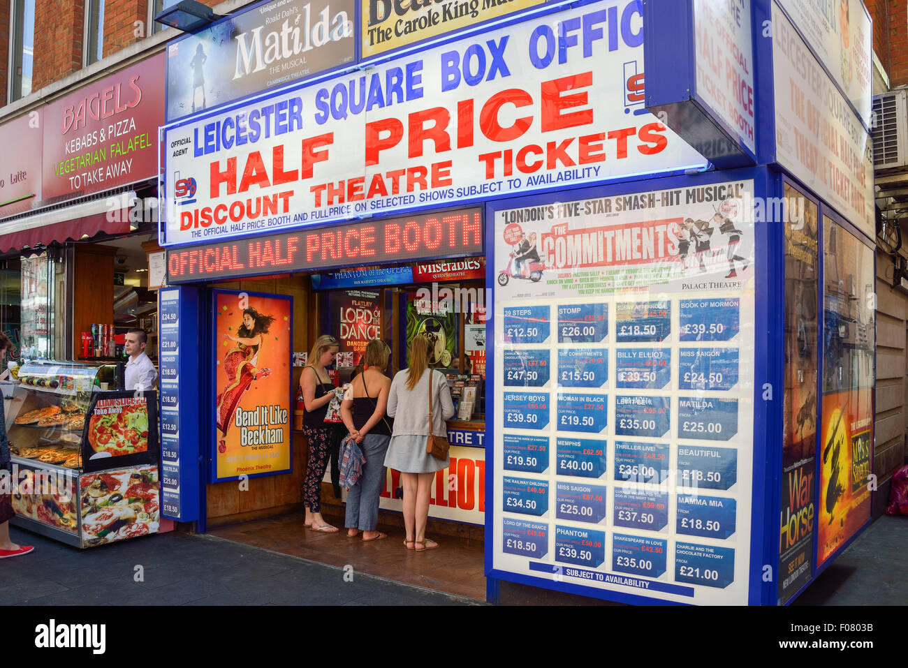 Leicester Square Ticket Booth, Leicester Square, West End, City of Westminster, London, England, United Kingdom - Stock Image