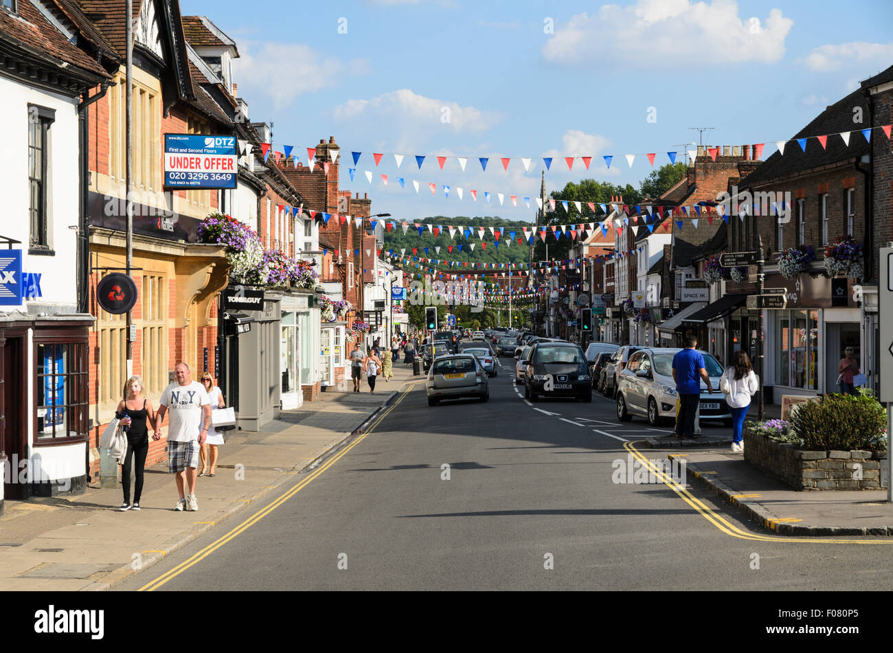 The High Street, Marlow, Buckinghamshire, England, UK. Stock Photo