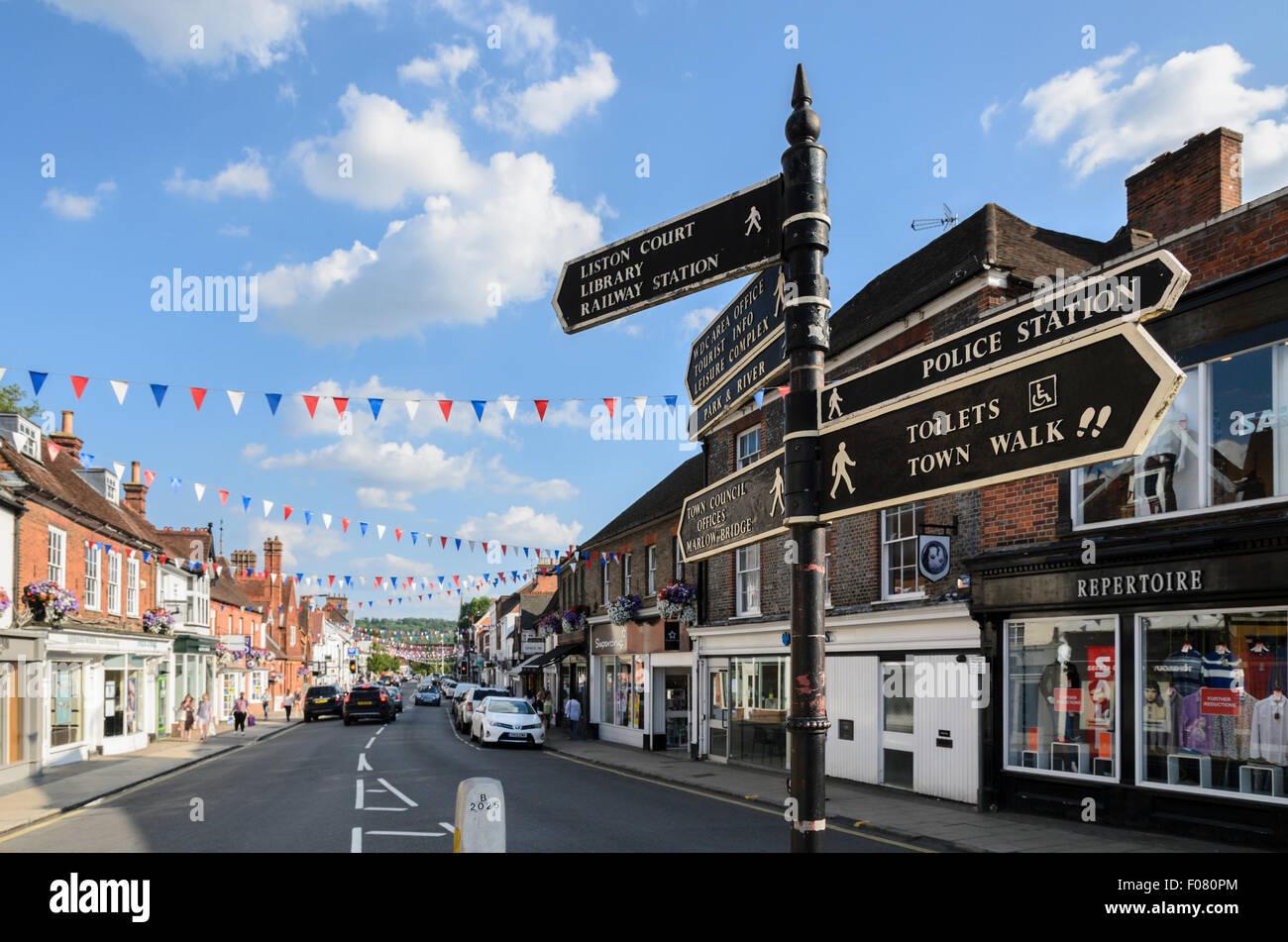 The High Street, Marlow, Buckinghamshire, England, UK. Stock Photo