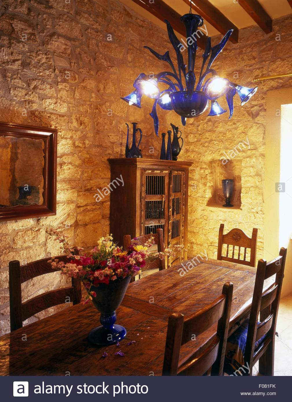 Remarkable Rich Oak Furniture In Dining Room At Majorcan Country House Interior Design Ideas Tzicisoteloinfo