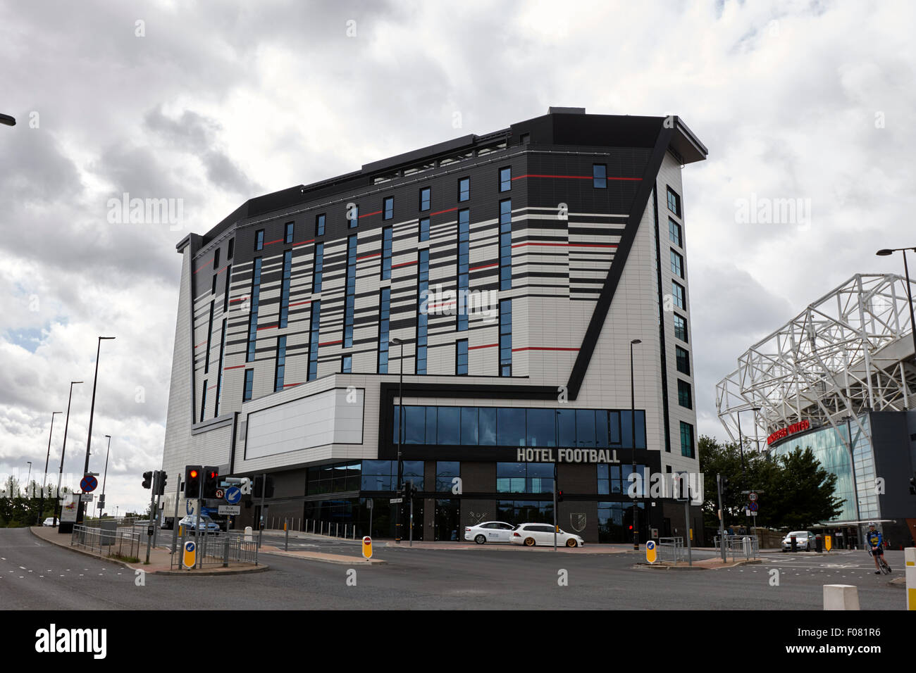 hotel football old trafford Manchester uk - Stock Image