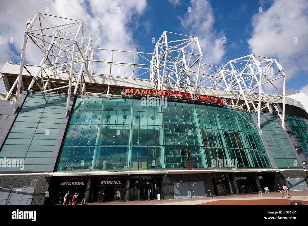 Manchester united old trafford stadium uk - Stock Image