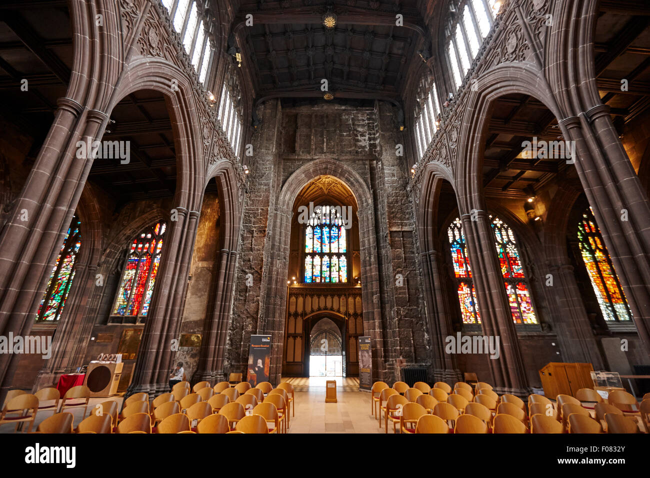 Manchester cathedral uk - Stock Image