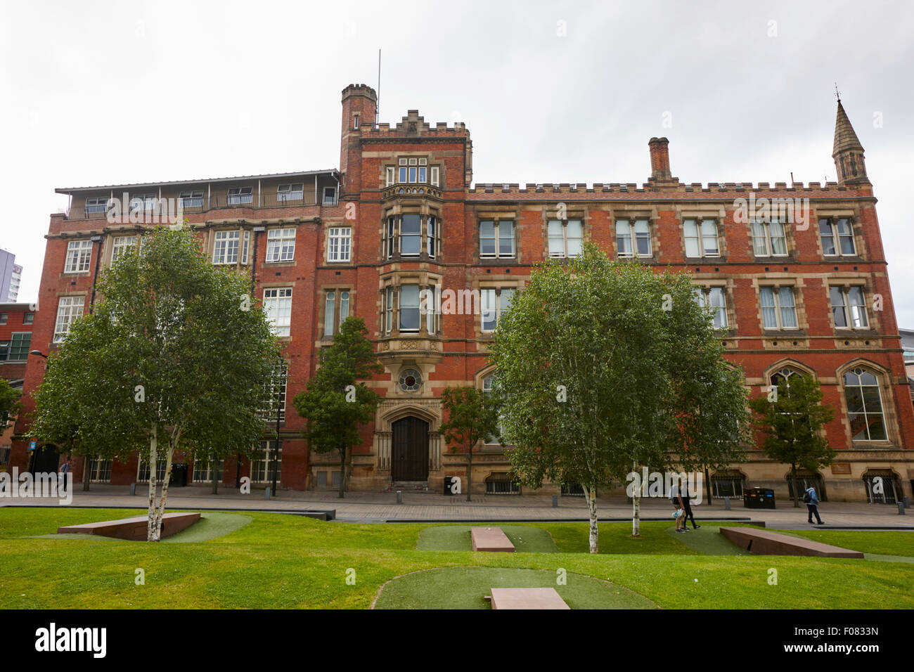 Manchester grammar school building England UK - Stock Image
