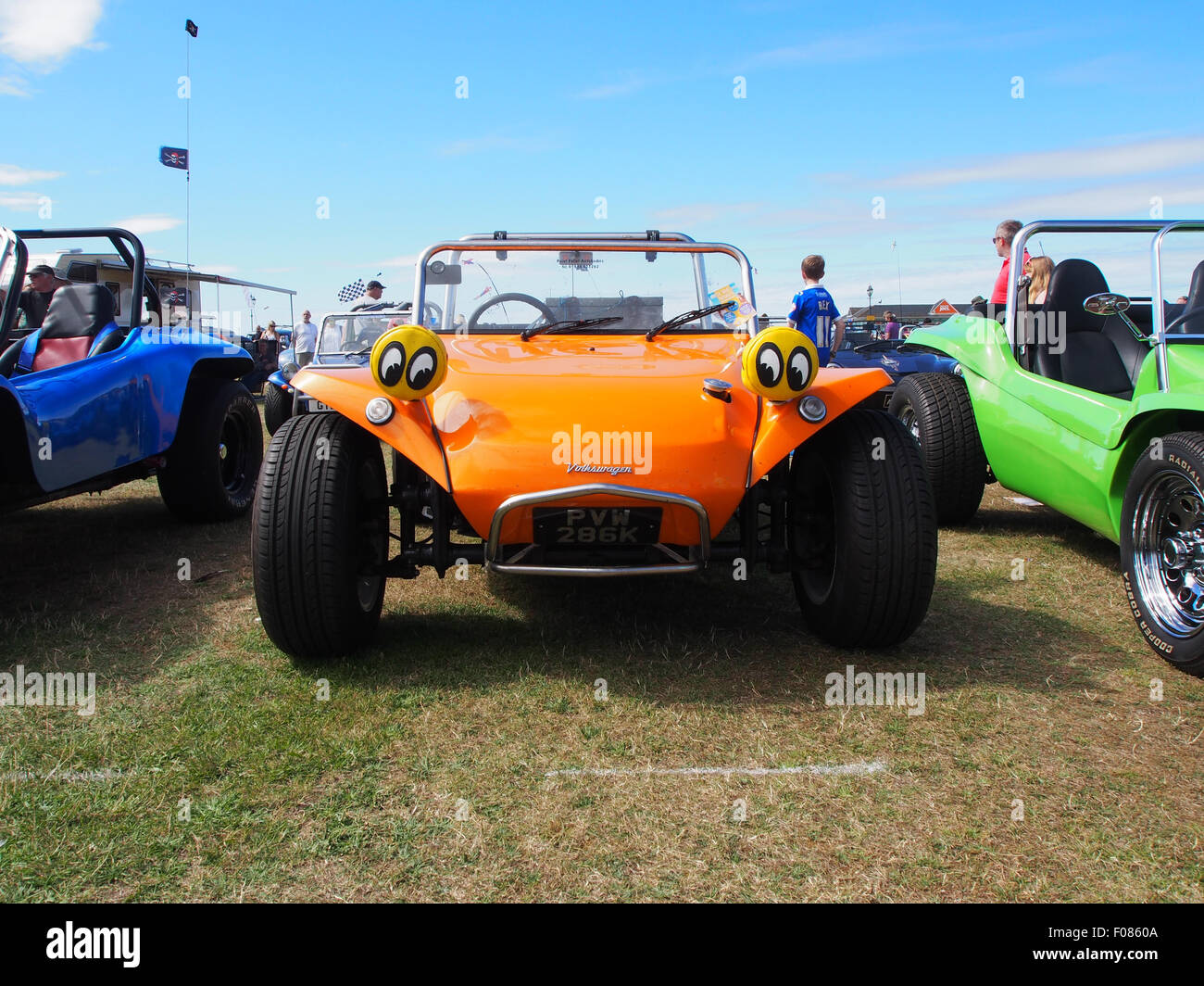 370bc68162ce A customised road worthy beach buggy on display at a vehicle rally - Stock  Image