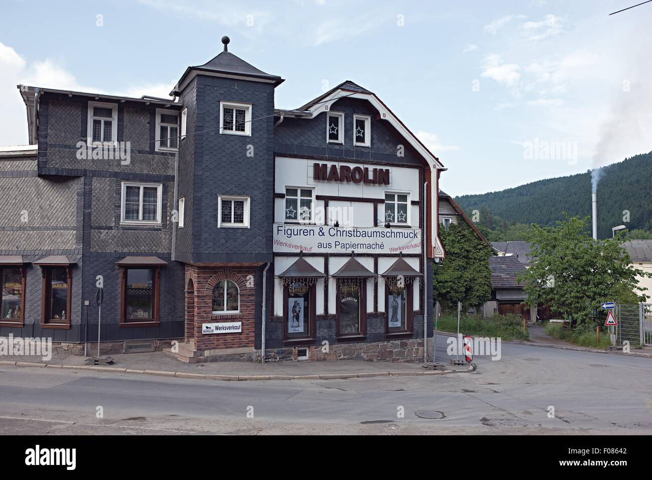 Facade of Marolin Company in Steinach, Switzerland - Stock Image