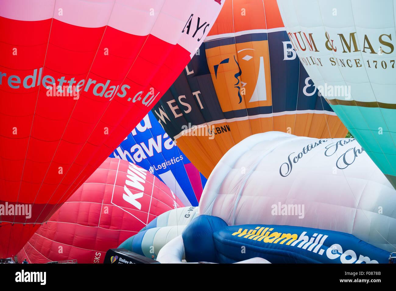 mass ascent hot air balloons - Stock Image