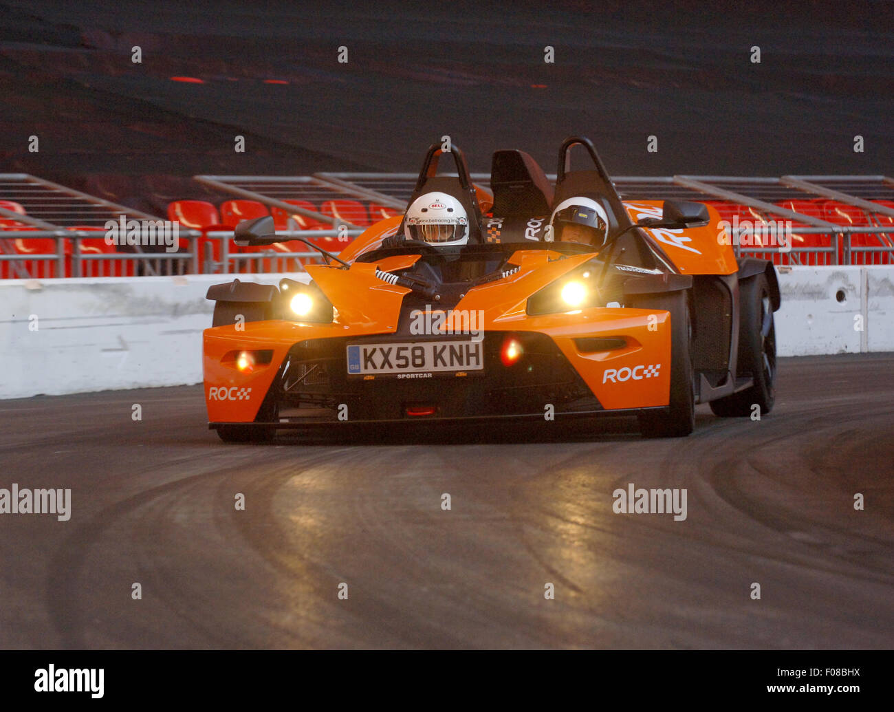 2008 KTM X-Bow sports car on the Race of Champions track in Wembley, London - Stock Image