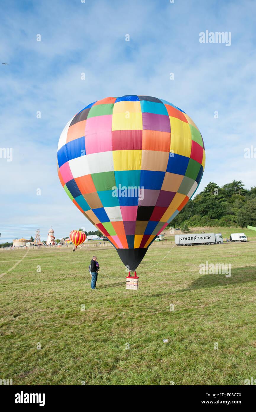 model hot air balloon radio controlled - Stock Image