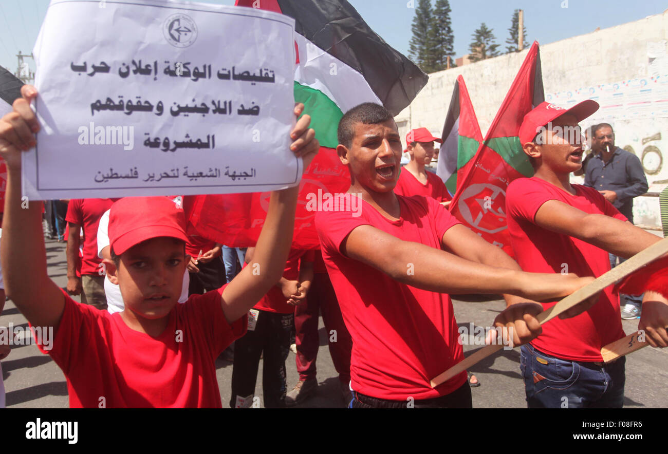 Gaza City, Gaza Strip, Palestinian Territory. 10th Aug, 2015. Palestinians supporters of the Popular Front for the - Stock Image