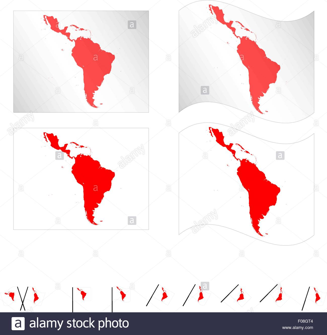 American Map Vector.Flags With Latin American Map Eps 10 Stock Vector Art Illustration