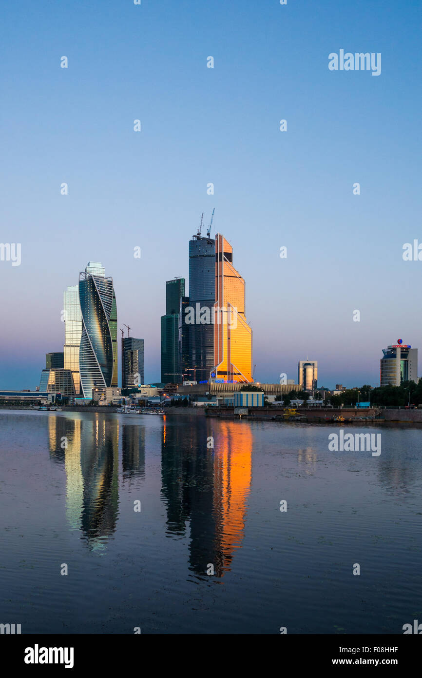 Moscow business center at sunrise - Stock Image