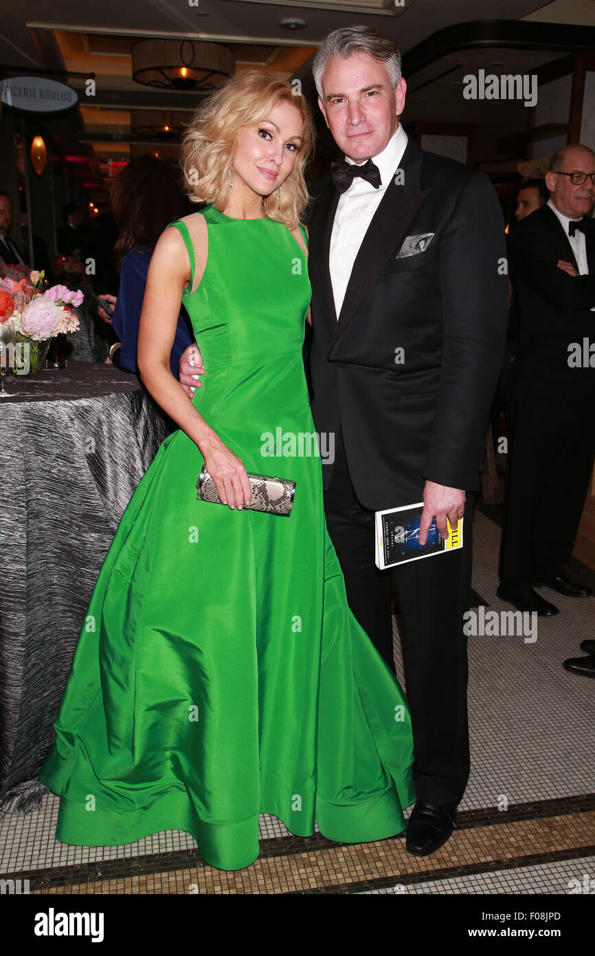 The 69th Annual Tony Awards Gala held at The Plaza Hotel.  Featuring: Jenn Lyon, Douglas Sills Where: New York City, - Stock Image