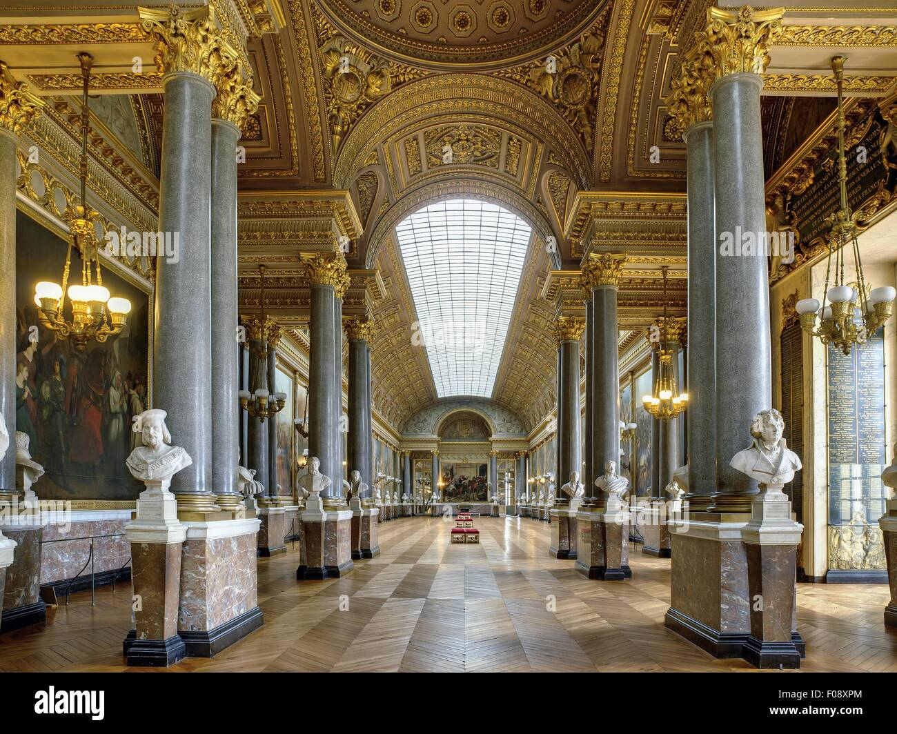 Interior of Battle gallery of Versailles Palace in France Stock ...