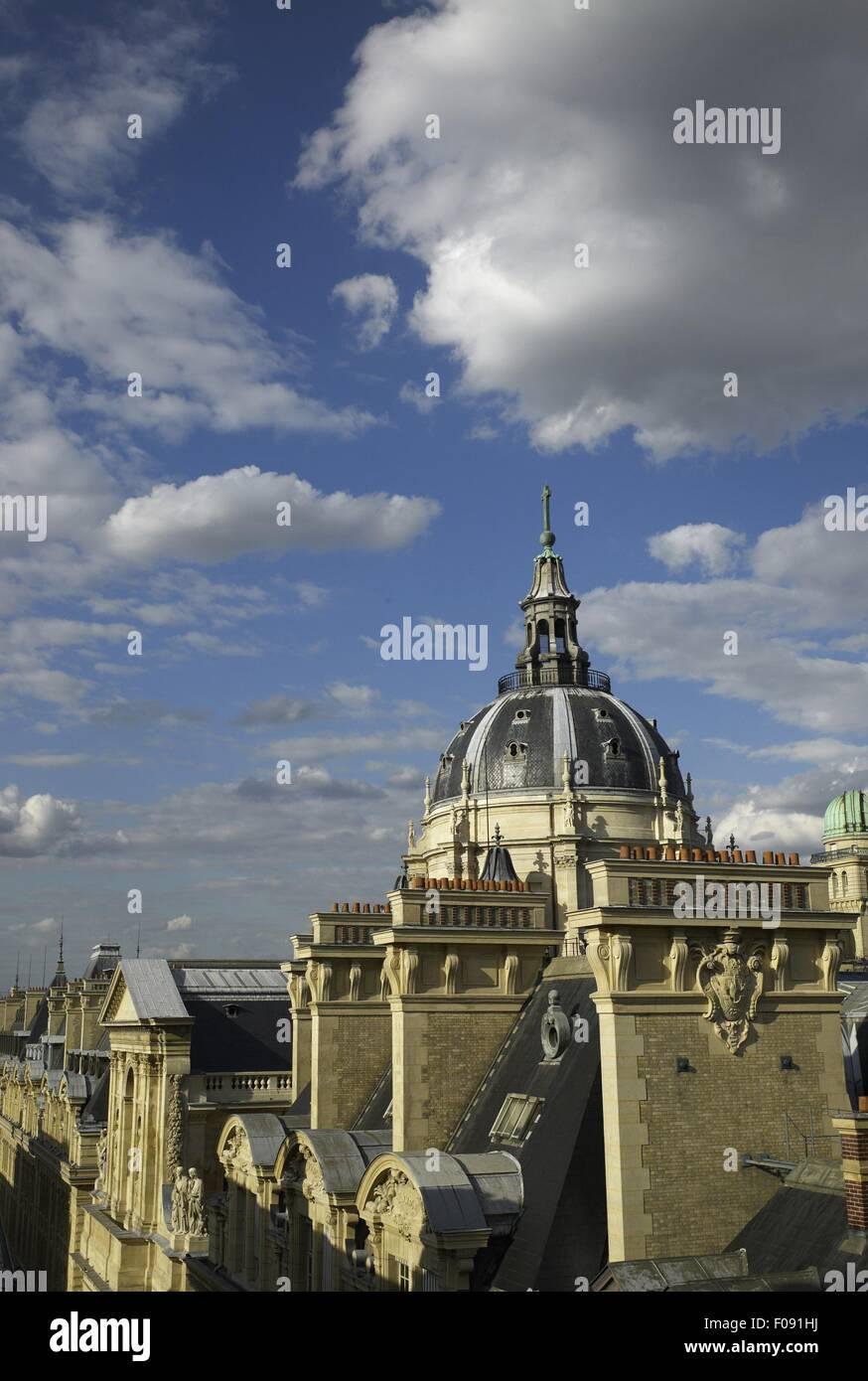 View of Paris-Sorbonne University in Paris, France - Stock Image