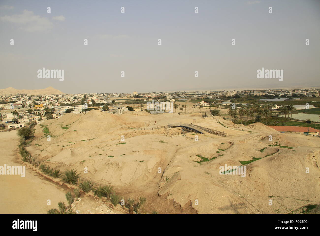 A view of Tel Jericho (Tel a-Sultan) in the Jordan valley, remains of settlement activity have been found at the - Stock Image