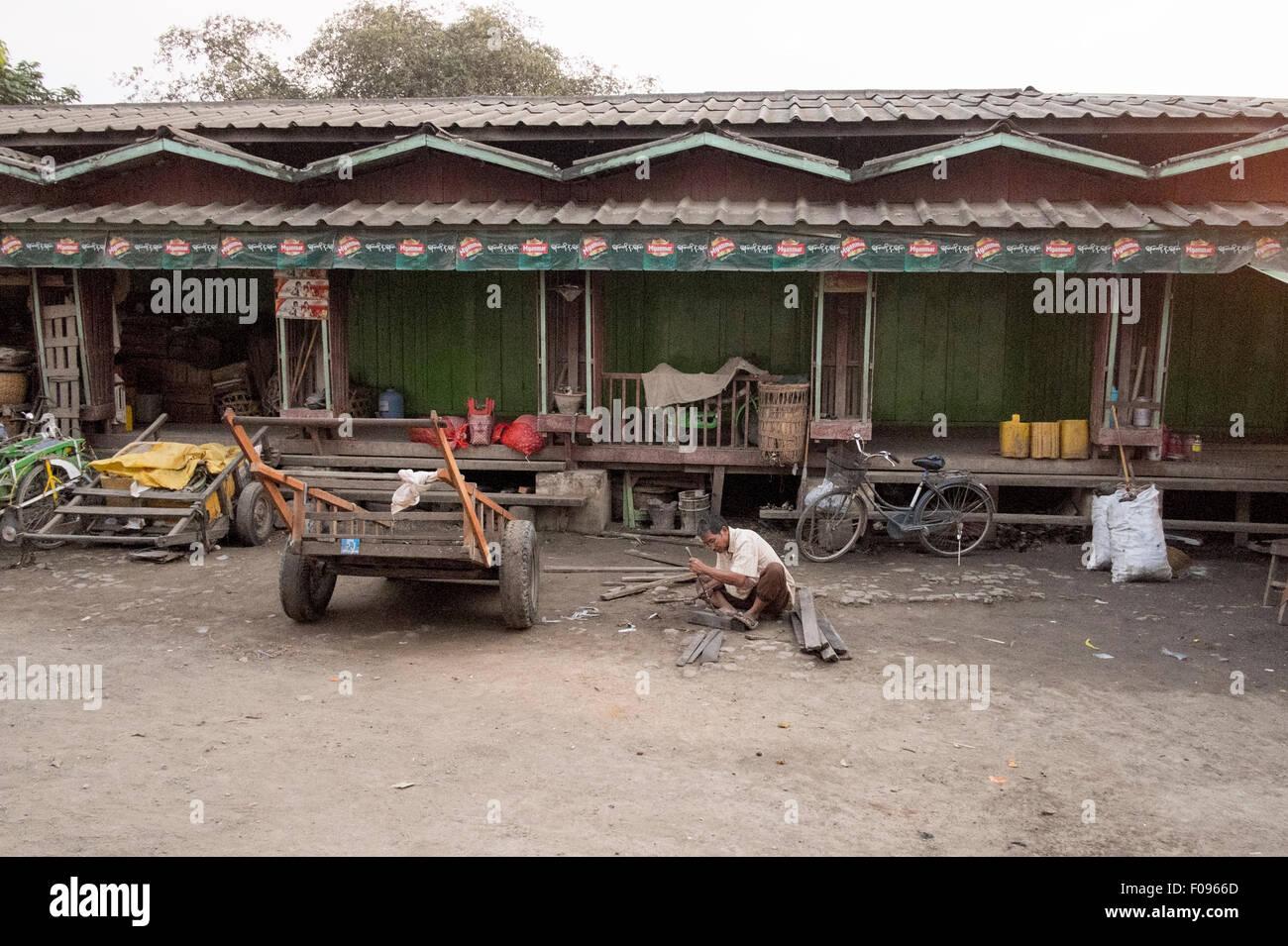 Kalaw , Myanmar. Street scene - Stock Image