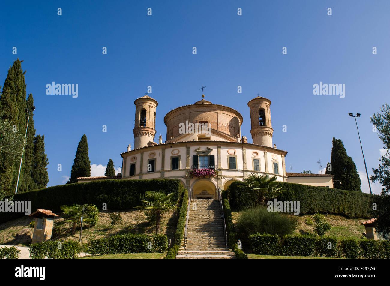 Umbria, Italy. The Santuario della Madonna di Belvedere (Sanctuary of the Madonna of Belvedere) Citta di Castello, - Stock Image