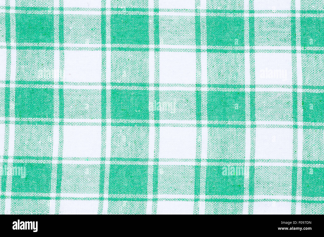 Checkered Green And White Kitchen Towel Background Texture