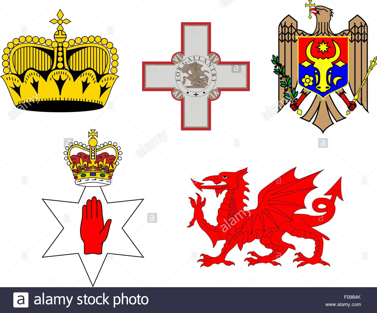 Coats of Arms of European Flags 3 - Stock Vector