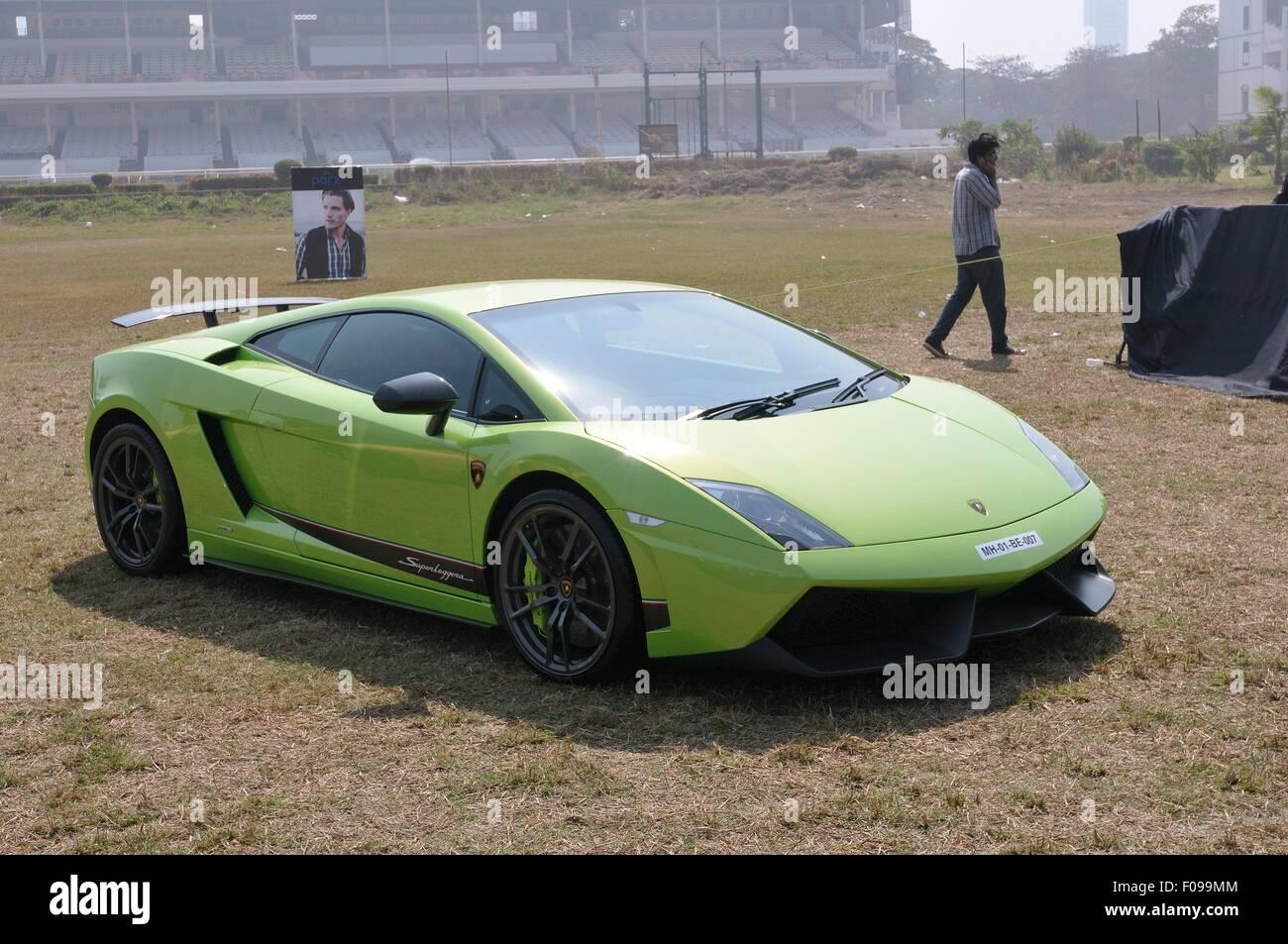 Green Lamborghini Gallardo Stock Photos Green Lamborghini Gallardo