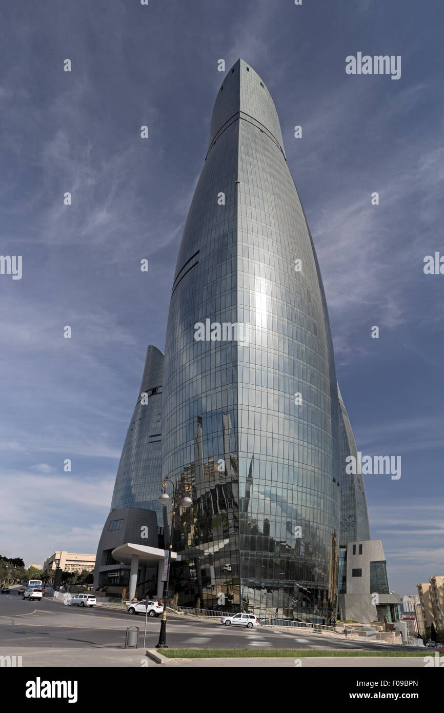 Flame Towers Baku Azerbaijan - Stock Image
