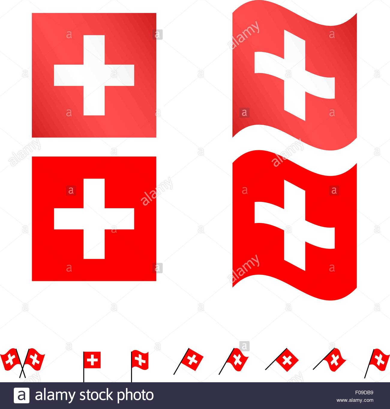 Switzerland Flags EPS 10 - Stock Vector