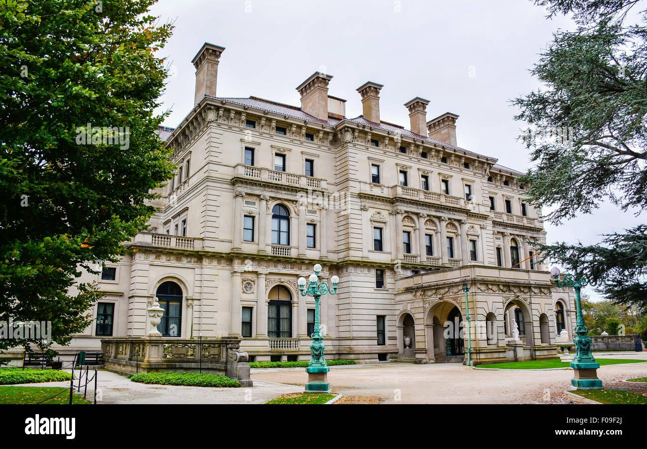 The Breakers, a Vanderbilt Mansion - Newport, Rhode Island - Stock Image